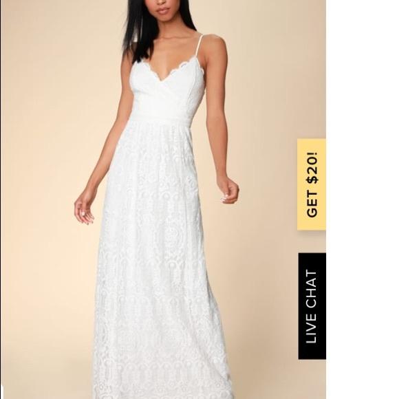 Lulu's Dresses & Skirts - Lulus Unending Love White Lace Maxi Dress